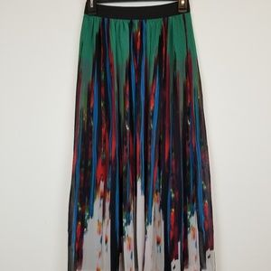 NY collection pleated maxi skirt size small